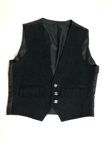 Mackay et Stewart Scotland Youth Kids Teen Black 3 Button Vest Waistcoat
