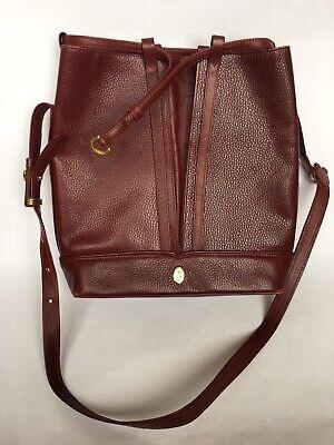 Must de CARTIER Vtg Bordeaux Shoulder Handbag
