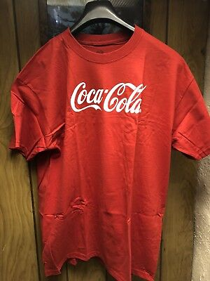 COCA-COLA-WHITE LOGO-RED T-SHIRT--XL--NEW