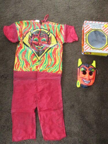 DEMON DEVIL Safety First Ben Cooper Halloween Costume 1970s Vintage Size 8 - 10