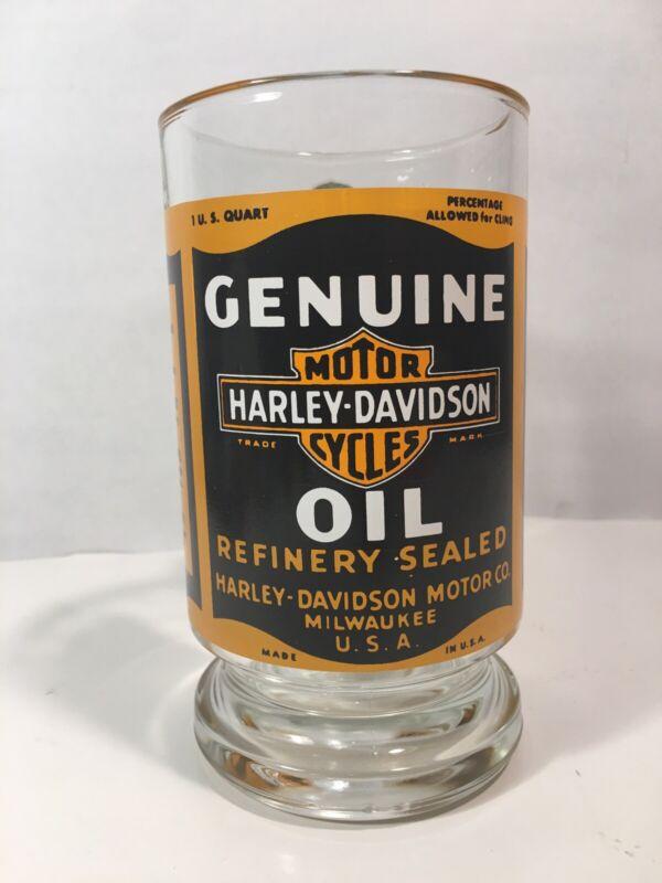 Harley Davidson Motorcycles Genuine Refinery Sealed Oil Glass Beer Mug Stein