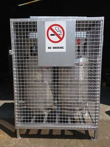 Forklift or BBQ propane cylinders storage cages for sale !