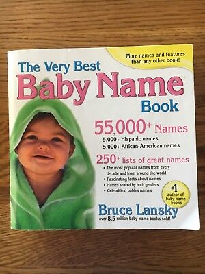 (The Very Best Baby Name Book Bruce Lansky)