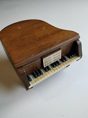 Vintage Wooden Baby Grand Piano Coaster Set of 4 segunda mano  Embacar hacia Mexico