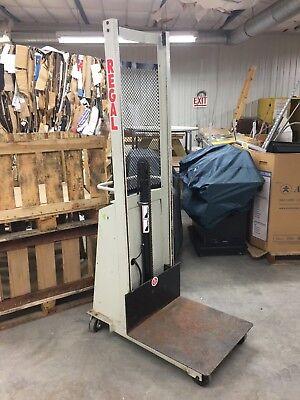 Regal 80in Manual Lift Stacker Rbp66 1000lb Load Max Untested No Battery
