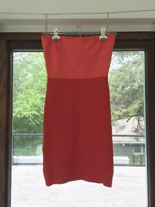 Coral Prom/ Occasion Dress, BCBG Maxazria, Strapless (Small)