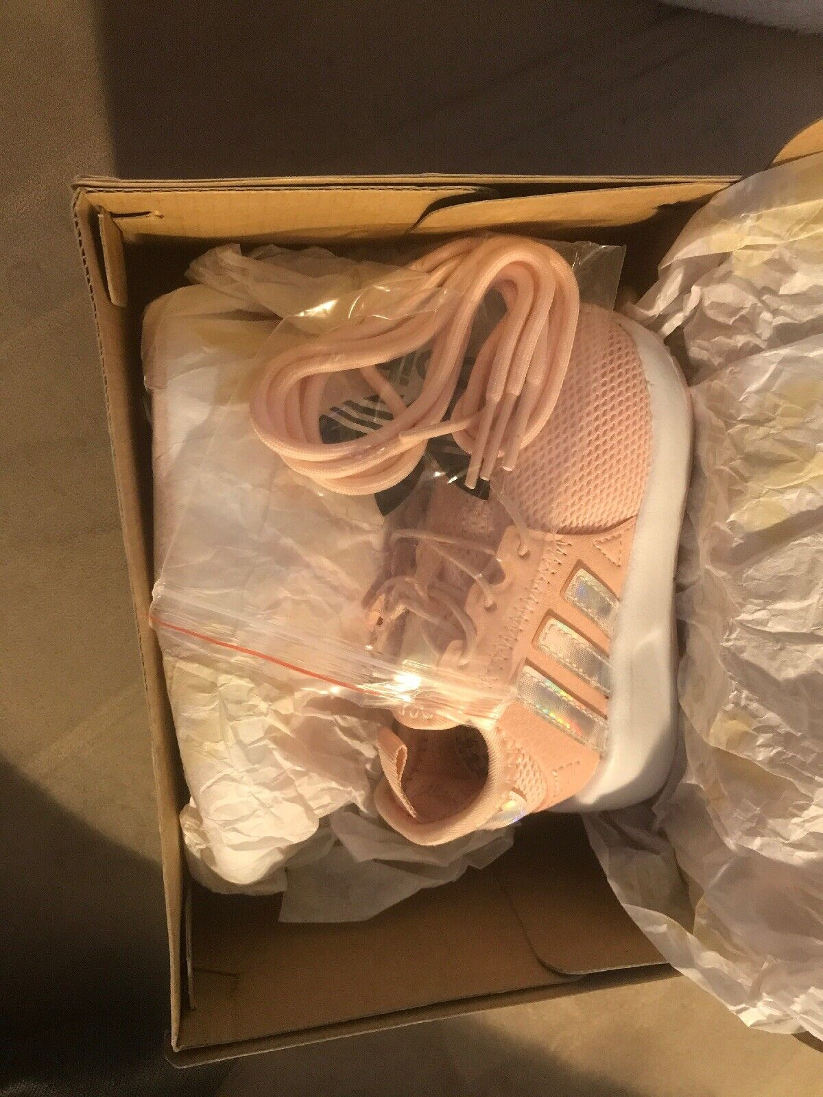 Toddlers Icepink Adidas Sneaker Size 4K