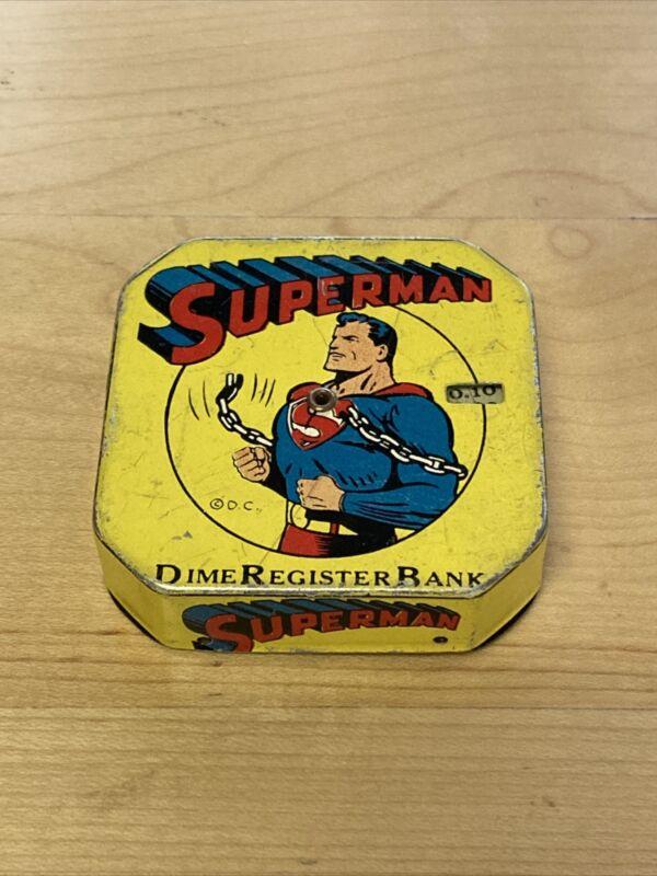 Superman Dime Register Bank - Vintage