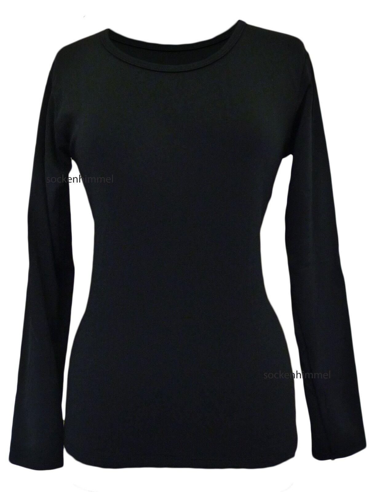 Thermo Sport- oder Funktions- Unterhemd Langarm für Damen mit Rundhals 2er Pack