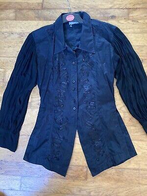 Miss Selfridge Black Top Steam Punk Gothic Vampire Victorian Costume Size 12