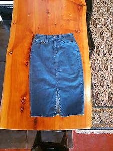 Sportsgirl long/pencil  demin skirt Hobart CBD Hobart City Preview