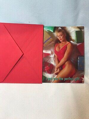 Vintage NOS naughty, joke, gag, nude picture photo,Christmas card VTG Funny Xmas ()