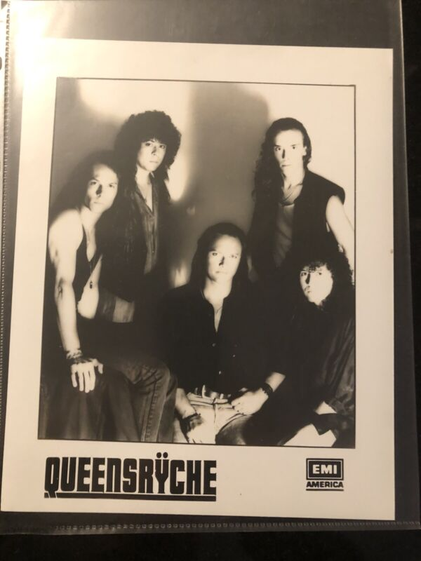 Queensryche Press Kit Promo Photo Lot Of 3 Different Original Band