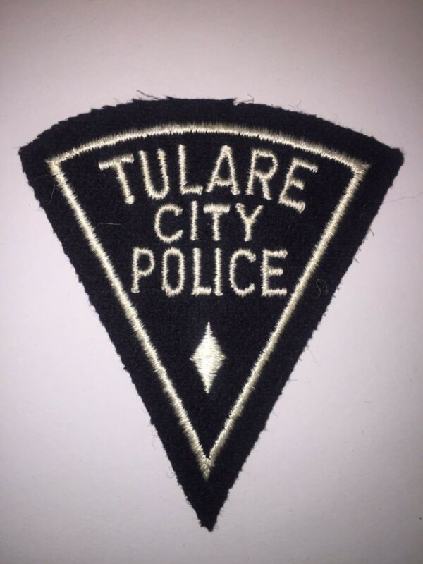 Old Felt Tulare California Police Patch