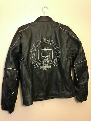 Harley Davidson Men AURORAL Willie G Skull Leather Jacket 3-in-1 L 98097-16VM