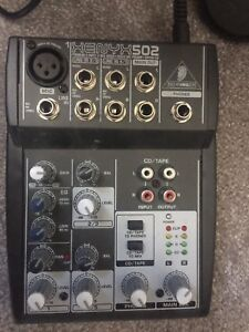 Behringer mixer and microphone