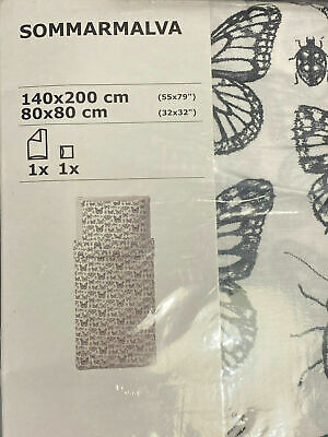 2 Sets 4-teilig IKEA SOMMARMALVA Bettwäsche Schmetterlinge Käfer 140x200 cm OVP