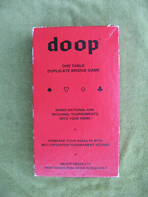 Original vintage DOOP 'One table duplicate bridge game' +8 unopened refill packs