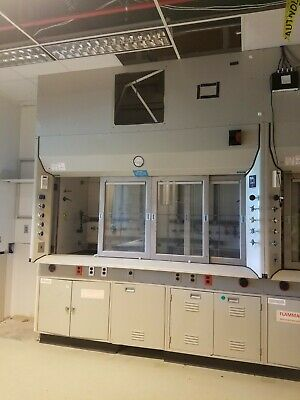 8ft Chemical Fume Hood Laboratory Equipment Phoenix Controls Monitor Can Ship