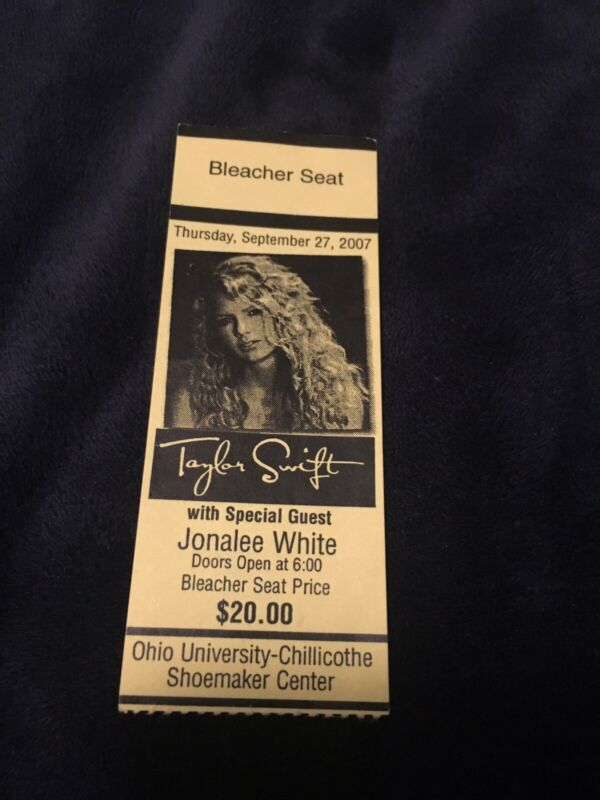 Very Rare Early Taylor Swift Ticket Stub From 2007
