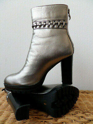 Brand New Pewter/Silver MIGATO Ankle Boots 39/6