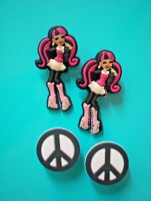 Jibbitz Croc Clog Shoe Charm Plug Button Accessorie Sandal Hippi girl Peace sign