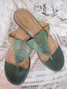 COLORADO HEELED THONG SLIDE SHOES LEATHER UPPER SIZE 11