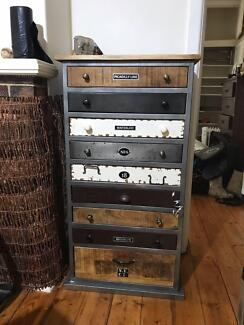 Industrial style drawer unit