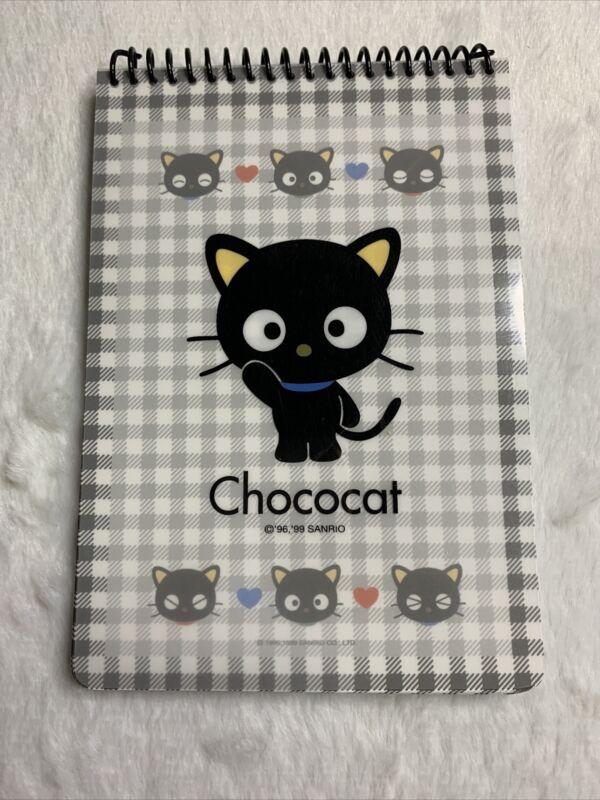 Sanrio Vintage Chococat Blue Black Checker Memo Pad Stationary Trinket Plush