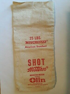 25 Pound Winchester Shot Bag. Olin Corp. New Haven, Conn. , East Alton, Ill.