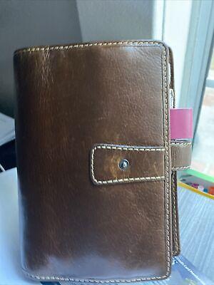 Filofax Malden A5 Leather Organizer - Ochrebrown