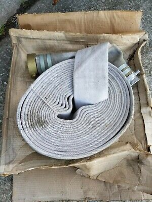 American White 3 X 50 Fire Hose With Fittings. Antique Old New Stock