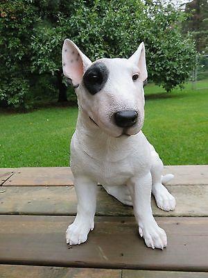 ENGLISH BULL TERRIER DOG FIGURINE RESIN Ornament Statue Yard Home Decor Gift New
