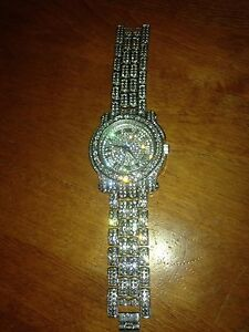 Techno Pave simulated iced out watch