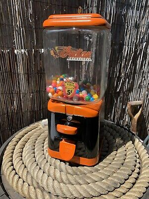 Vintage Oak INDIAN MOTORCYCLE gumball MACHINE Harley Davidson Colors
