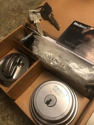 Medeco Assa Abloy Maxum Deadbolt High Security Satin Nickel - 2 Keys W Card