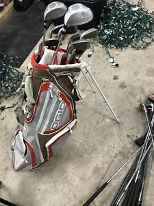 Ogio golf bag with Goliath intermediate clubs and  clubs