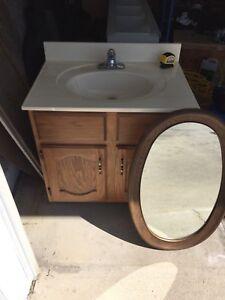 Sink vanity mirror