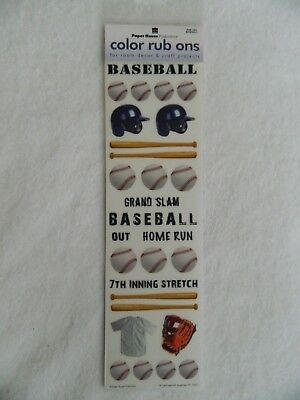 Paper House Productions 3D Color Rub Ons - BASEBALL Paper House Rub