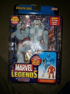 Marvel Legends Apocalypse Series Sasquatch White Variant RARE NO BAT PART!