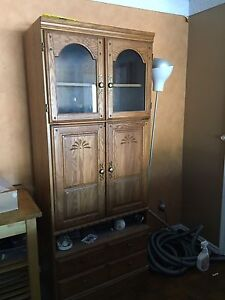 Stereo tv monitor cabinet