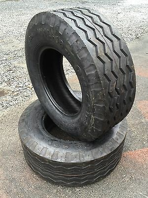2 New Hd Backhoe Tires 11l-16 - F3 12 Ply Rating-11lx16 Backhoeimplement Tire
