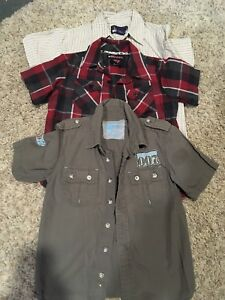 Size 4 short sleeve button up shirts