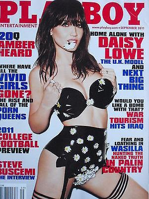 DAISY LOWE September 2011 Playboy AMBER HEARD STEVE BUSCEMI VIVID GIRLS