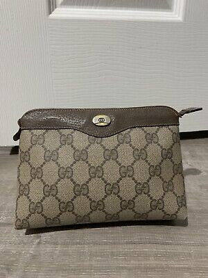 Gucci Vintage Accessory Collection Cosmetic Pouch Bag Monogram GG