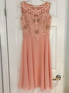 Champagne coloured Formal dress with Lace & Chiffon