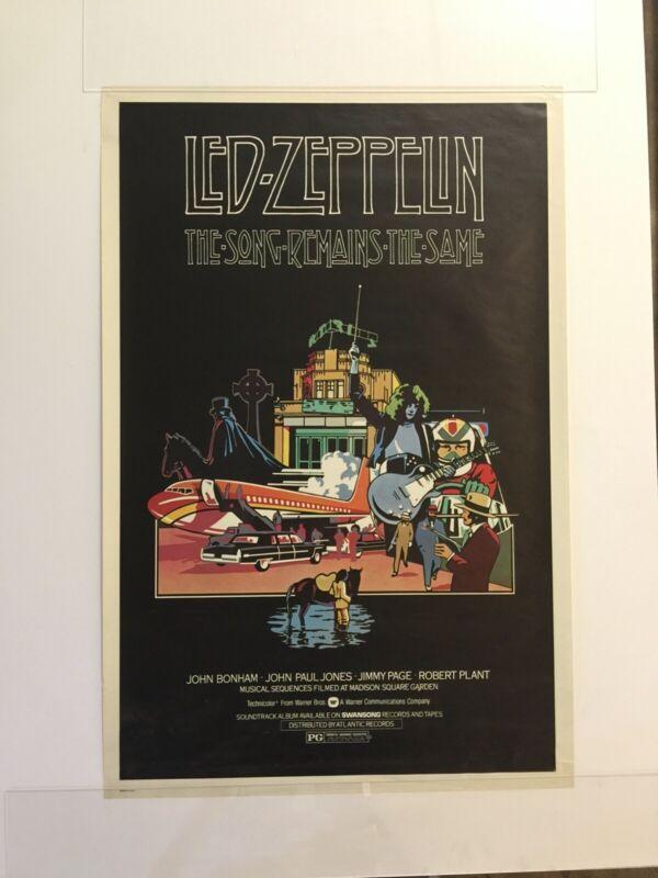 LED ZEPPELIN The Song Remains the Same - Vintage Original Promotional Poster
