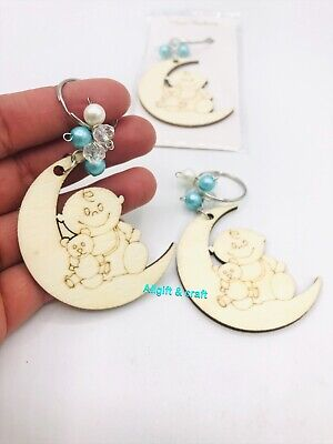 12 Baby Shower Party Favor Wood Keychain Baby Shower Ideas - Favor Ideas