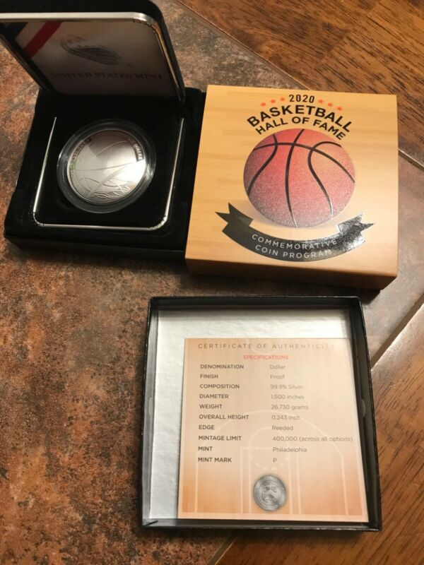 2020-P Basketball Hall of Fame Proof Silver Dollar