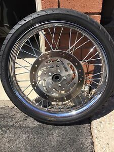 2009 Harley Softail Night Train Rims, Rubber, Rotors and Pulley
